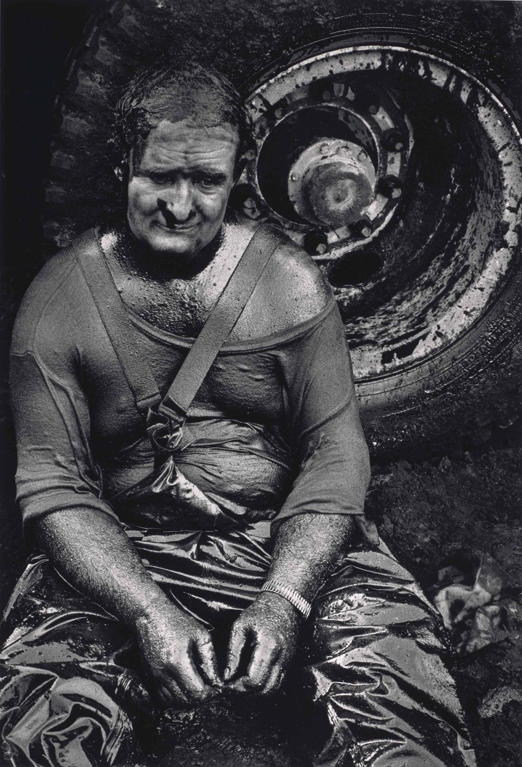 Worker Resting, Great Burhan Oil Field, Kuwait, 1991