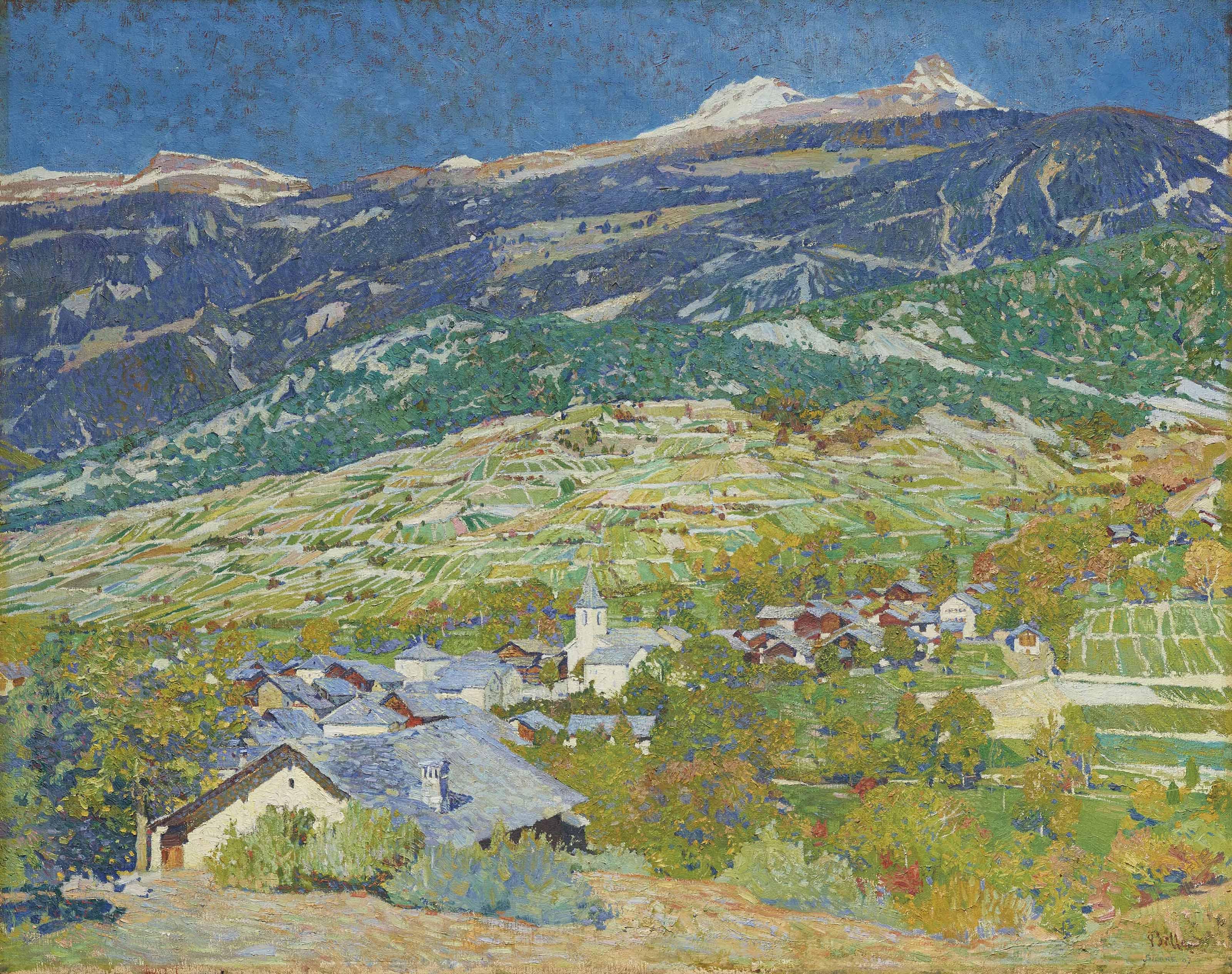 Vue de Miège, 1907