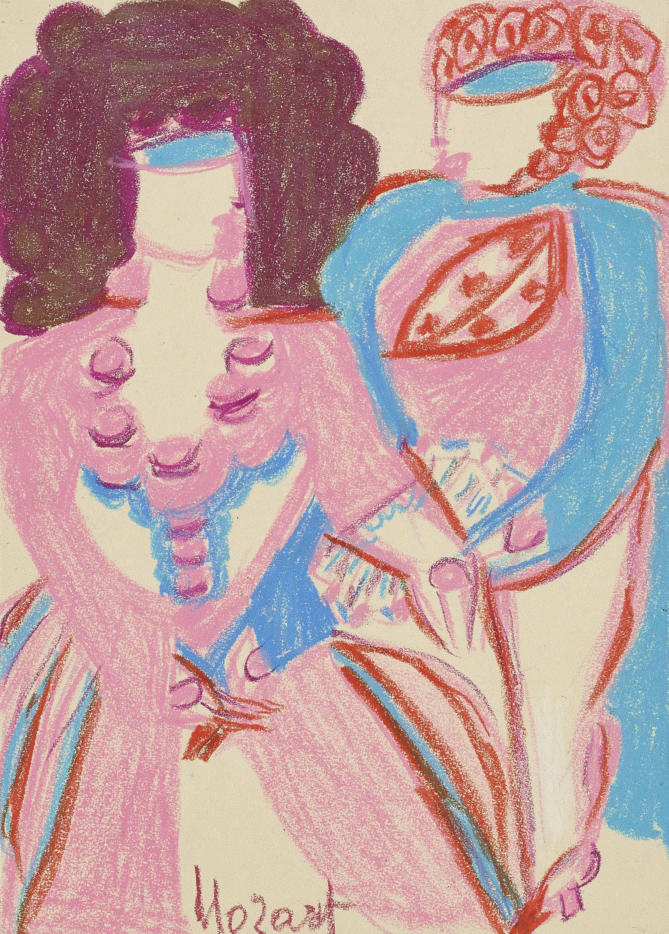 Mozart - La Belle Vénitienne dancing, um 1960-63
