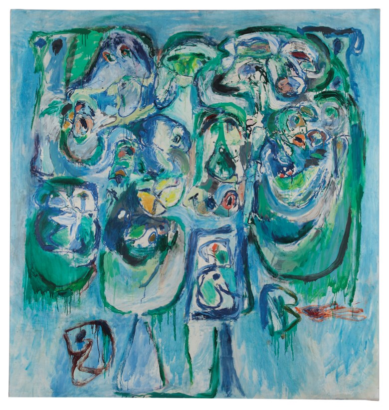 Pierre Alechinsky (b. 1927), Soutien de famille (Provider), 1960. Oil on canvas 200 x 190 cm. Estimate €280,000-400,000. This lot is offered in Post-War and Contemporary Art on 23-24 April at Christie's in Amsterdam