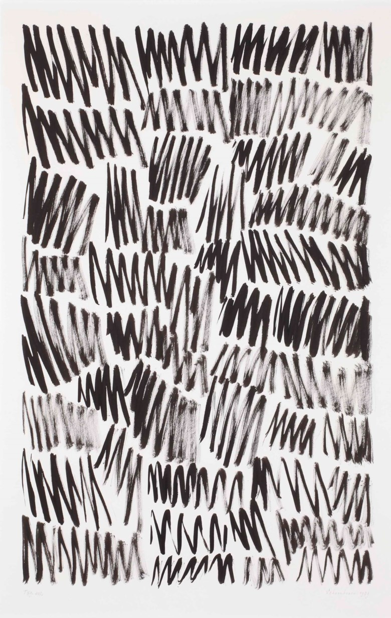 Jan Schoonhoven (1914-1994), T79-102, executed in 1979. 97 x 63 cm. Estimate €5,000-7,000. This lot is offered in Post-War and Contemporary Art on 23-24 April 2018  at Christie's in Amsterdam