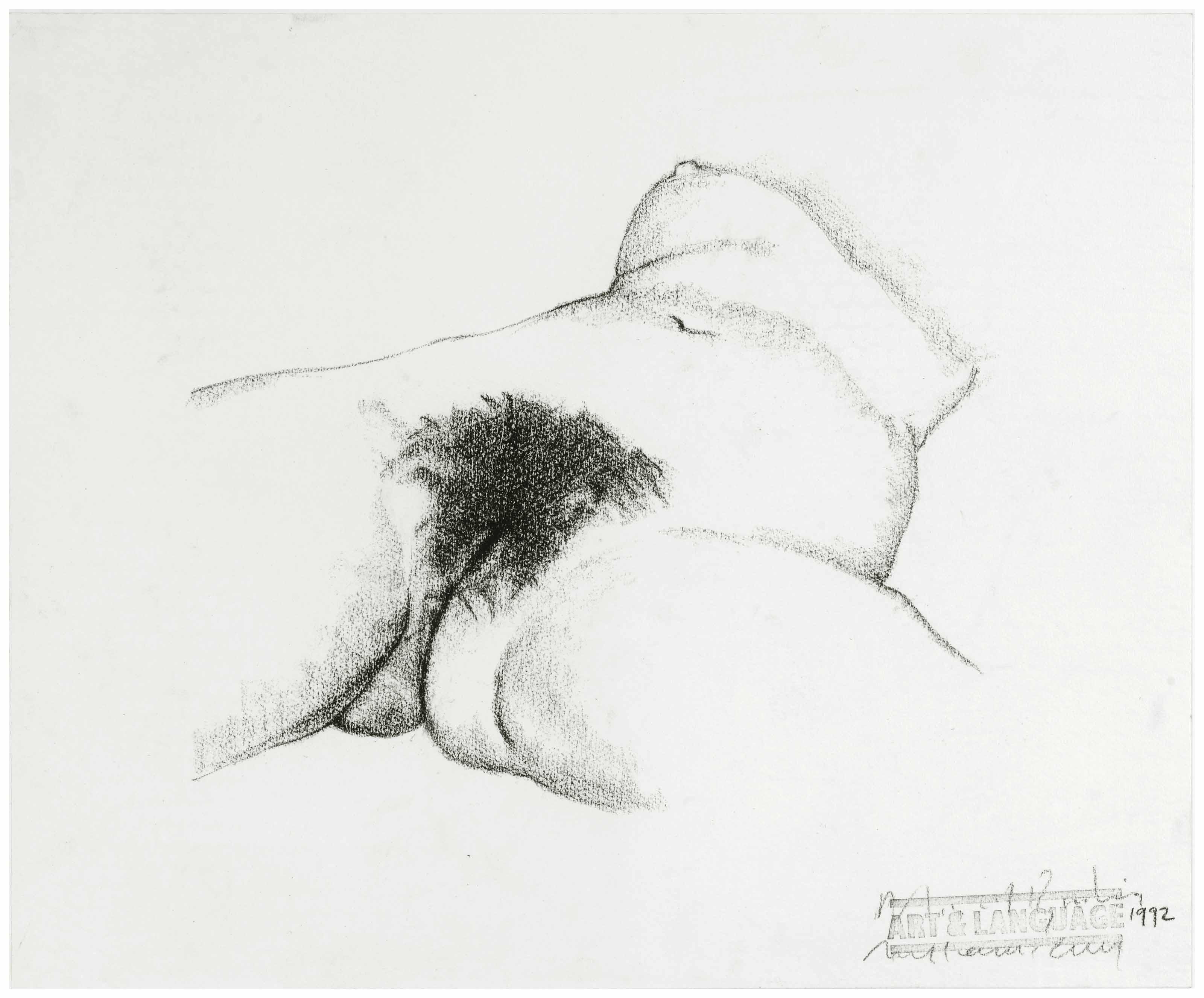Study after Gustave Courbet's 'L'Origine du monde'