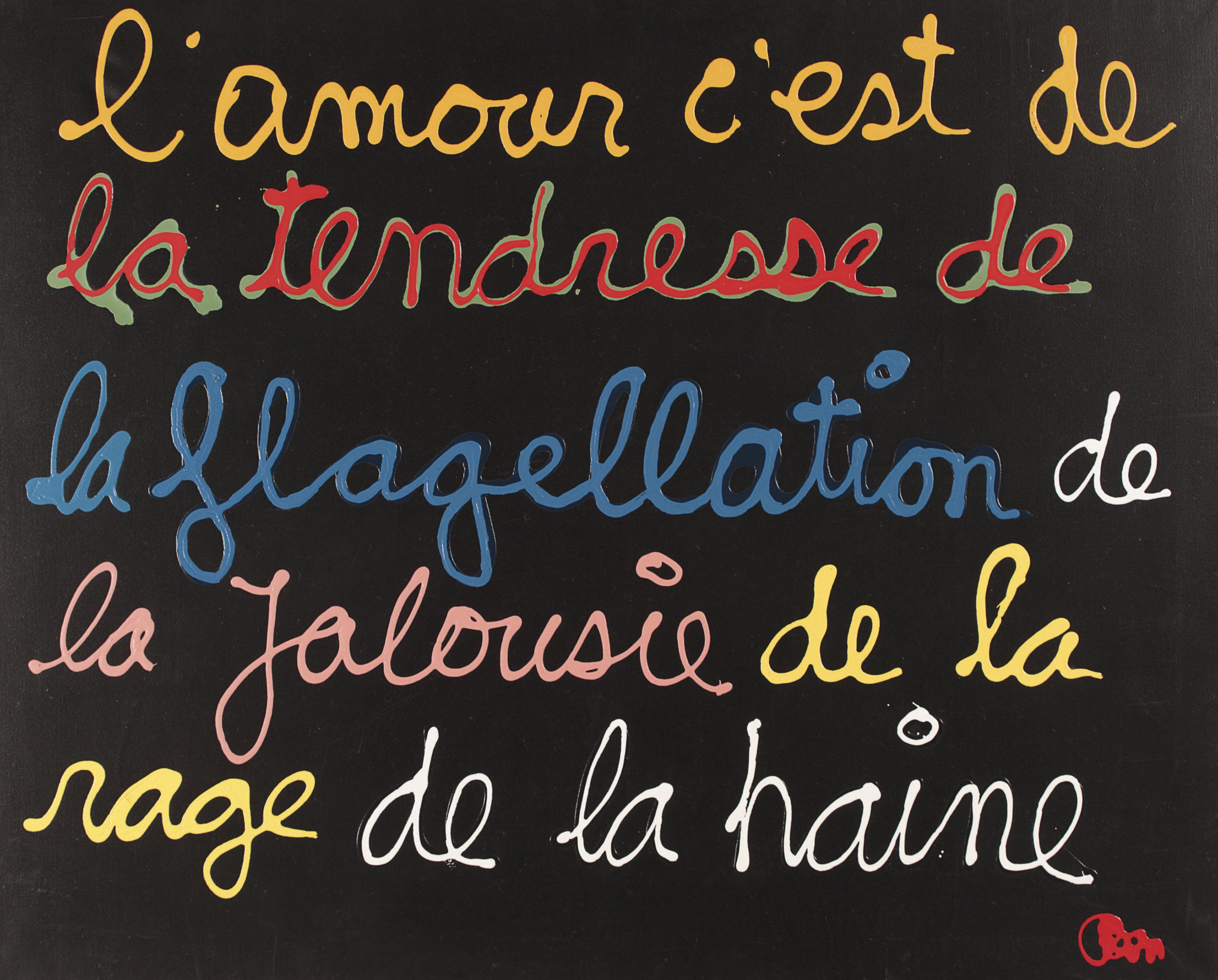 L'Amour c'est de la Tendresse (Love is Tenderness)