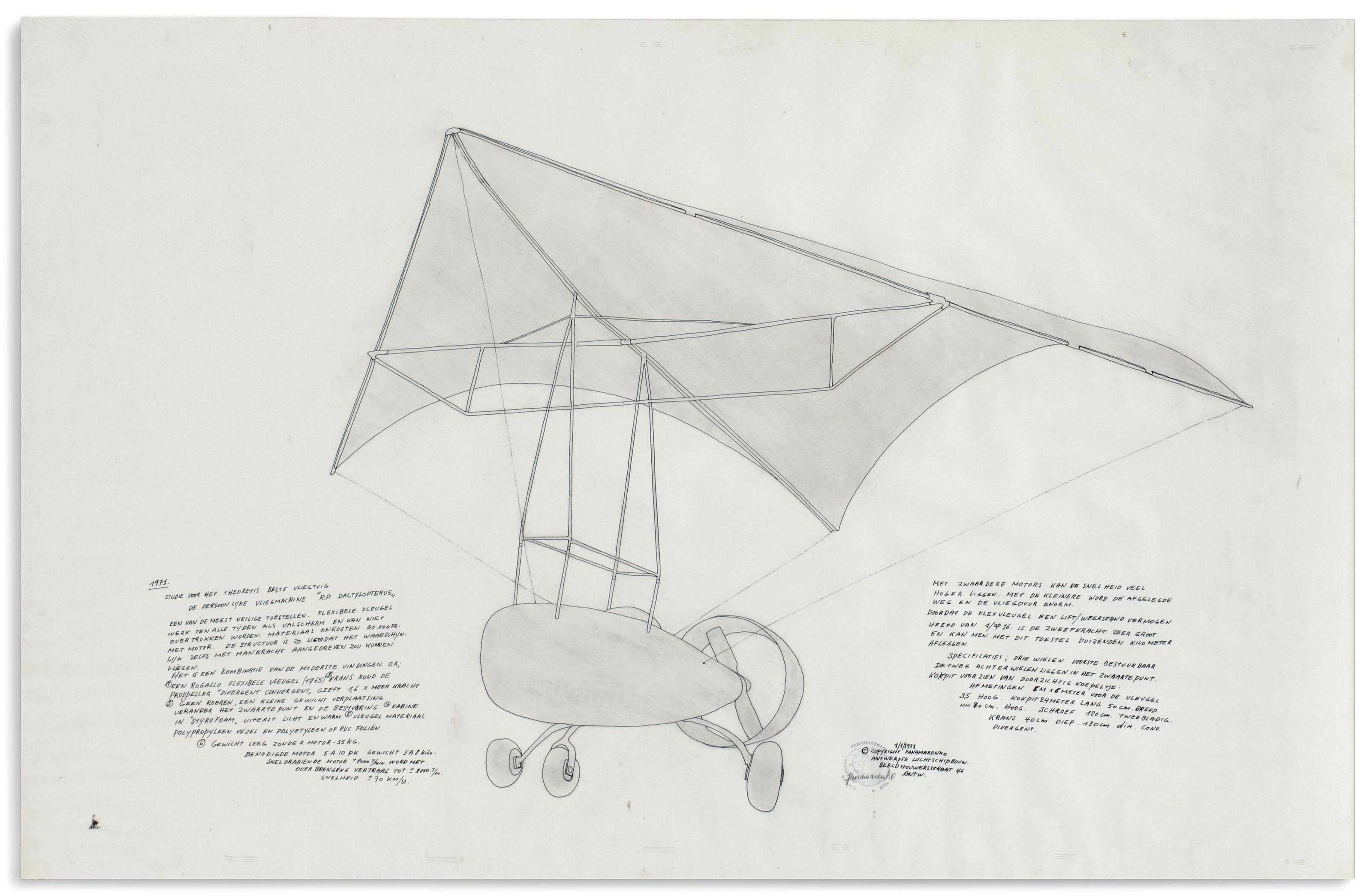 Studie voor het theoretis beste vliegtuig (Study for the Best Theoretical Airplane)