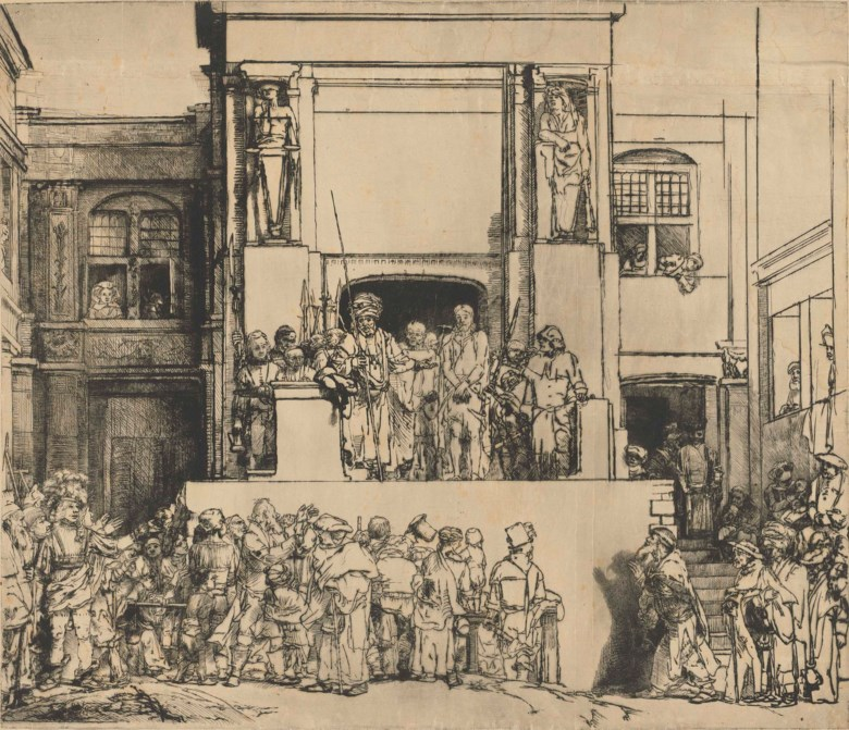 Rembrandt Harmensz. van Rijn (1606-1669), Christ presented to the people ('Ecce Homo'). Sheet 15 x 17⅝  in (38.7 x 44.8  cm). Estimate On request. Offered in Old Masters Evening Sale on 5 July 2018 at Christie's in London