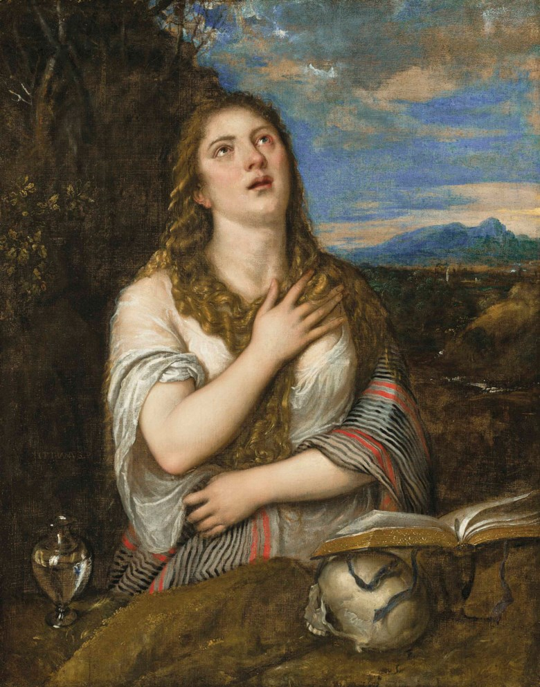 Tiziano Vecellio, called Titian (148590-1576), The Penitent Magdalen. 48⅛ x 37⅞  in (122.4 x 96.2  cm). Estimate £600,000-800,000. Offered in the Old Masters Evening Sale on 5 July 2018 at Christie's in London