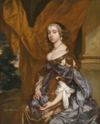 Portrait of Lady Mary Fane, later Countess of Exeter (1639-1681), three-quarter-length, in a brown dress and purple shawl
