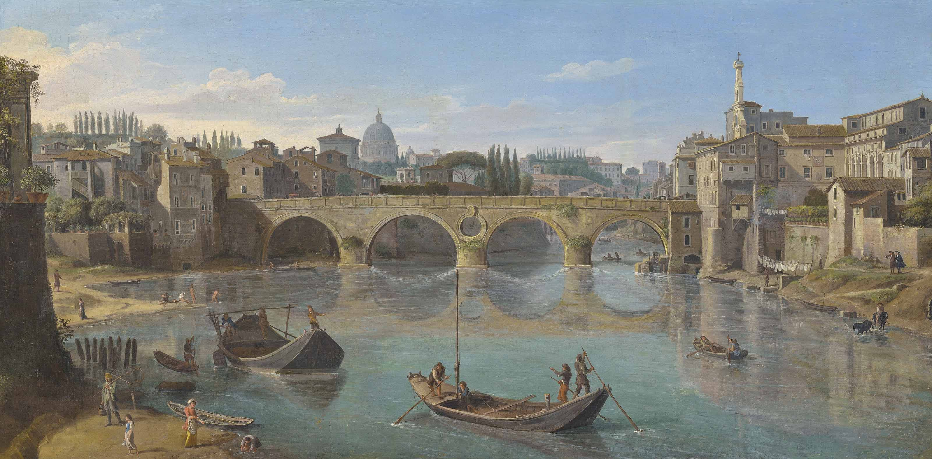 The Tiber, Rome, with the Ponte Sisto
