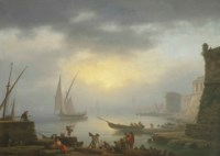 A harbour at sunrise