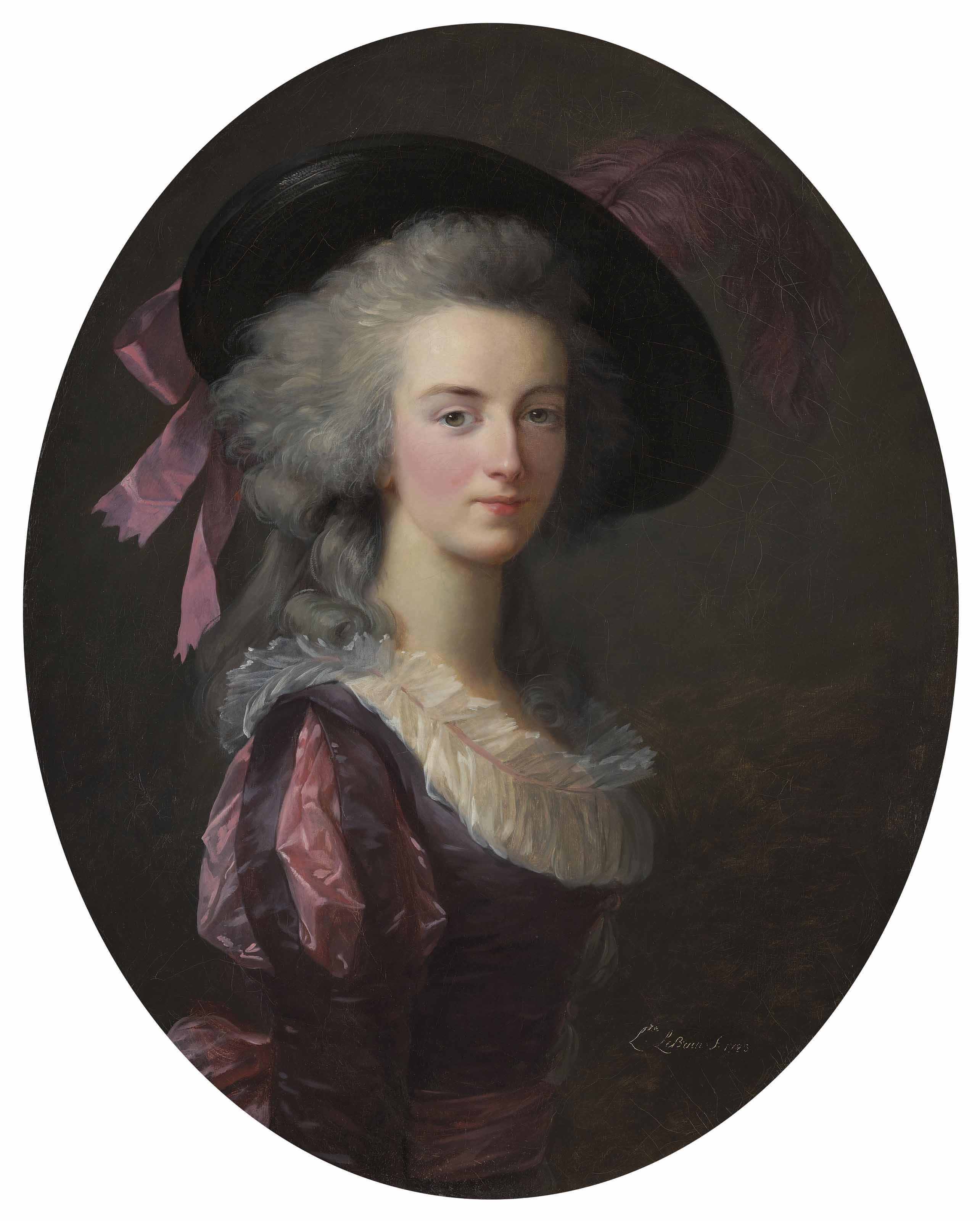 Portrait of La maréchale-comtesse de Mailly, née Blanche Charlotte Marie Félicité de Narbonne Pelet (1761-1840), half-length