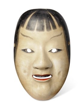 NOH MASK OF KASSHIKI (ACOLYTE)