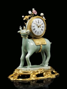 A LOUIS XV ORMOLU-MOUNTED CHINESE CELADON AND MEISSEN PORCEL