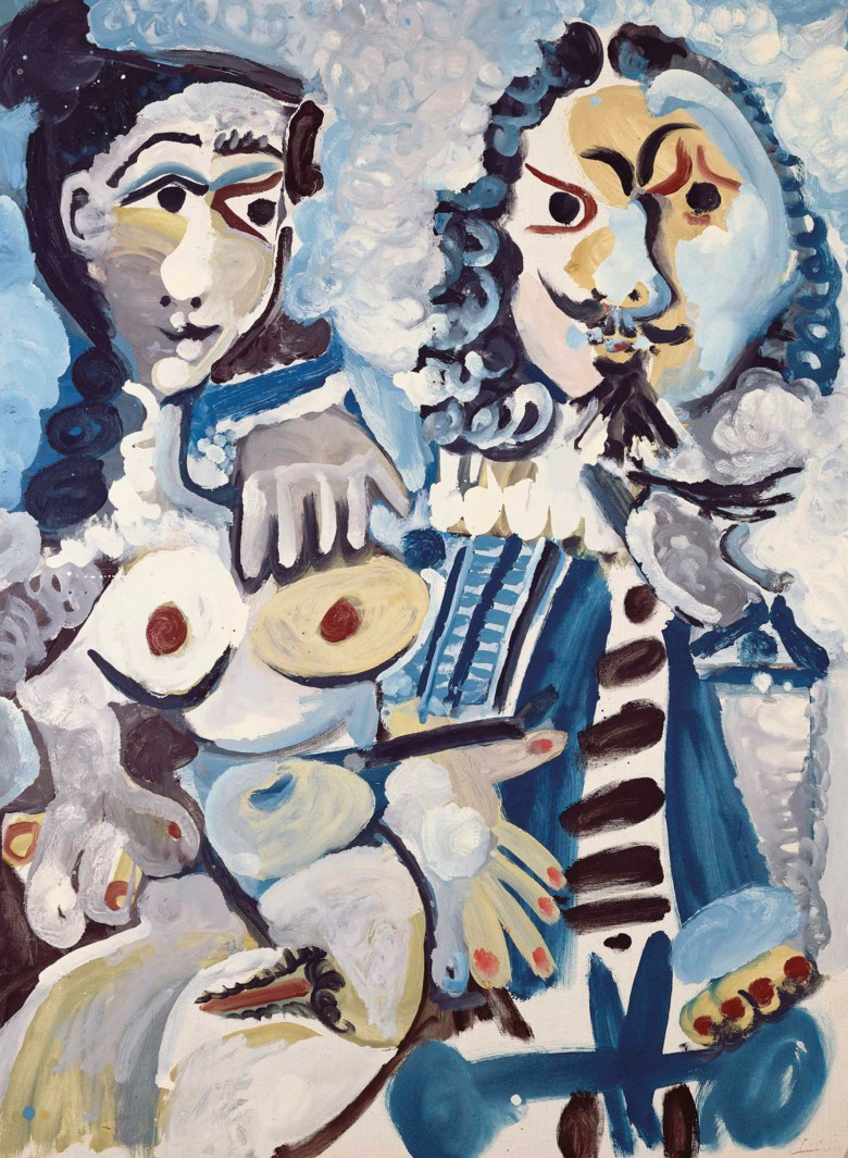 Pablo Picasso (1881-1973), Mousquetaire et nu assis, painted in Mougins on 11 April 1967. 51¼ x 37⅞  in (130 x 96.5  cm). Sold for £13,733,750in the Impressionist and Modern Art Evening Sale  on 27 February 2018  at Christie's in London.© Succession PicassoDACS, London 2018