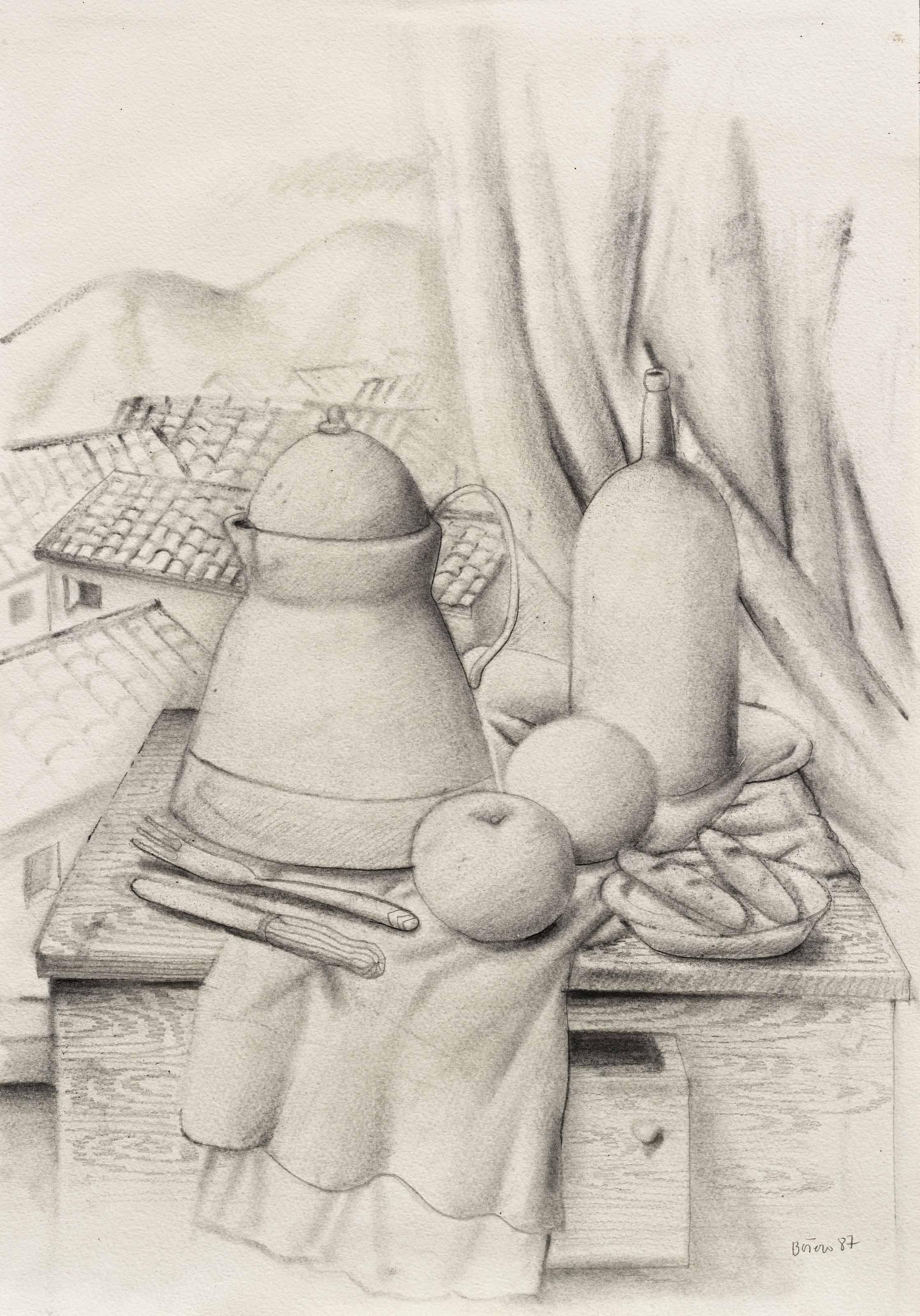 Fernando Botero B 1932 Still Life With Mountain View 1980s