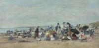 Scéne de plage à Trouville