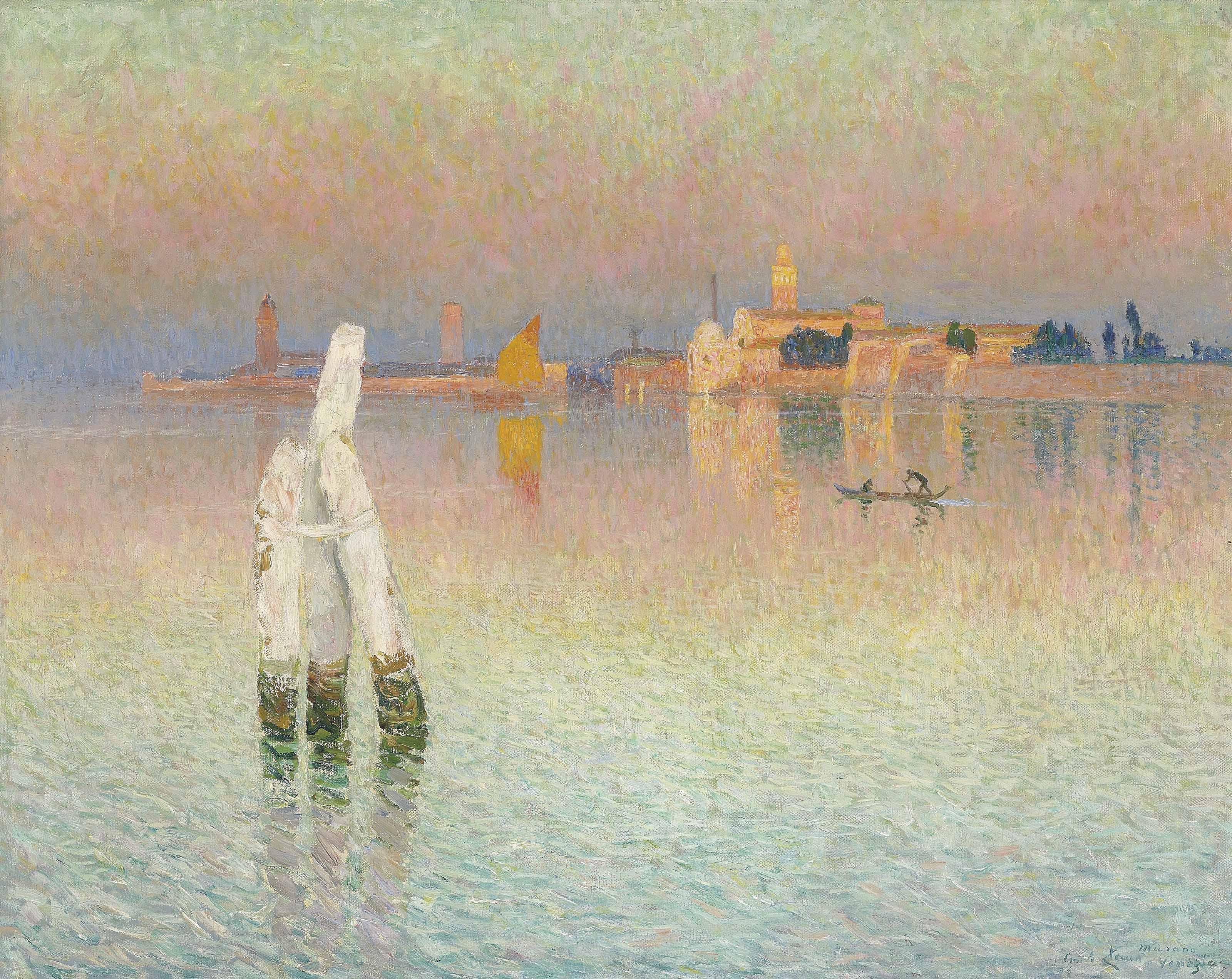 Vue sur Murano, lueur du couchant