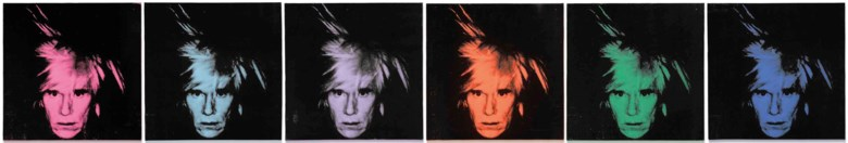 Andy Warhol (1928-1987), Six Self-Portraits, executed in 1986. Acrylic and silkscreen ink on canvas, in six parts, each 22 x 22 in (56 x 56 cm). Estimate on request. This lot is offered in Post-War and Contemporary Art Evening Auction on 6 March 2018  at Christie's in London