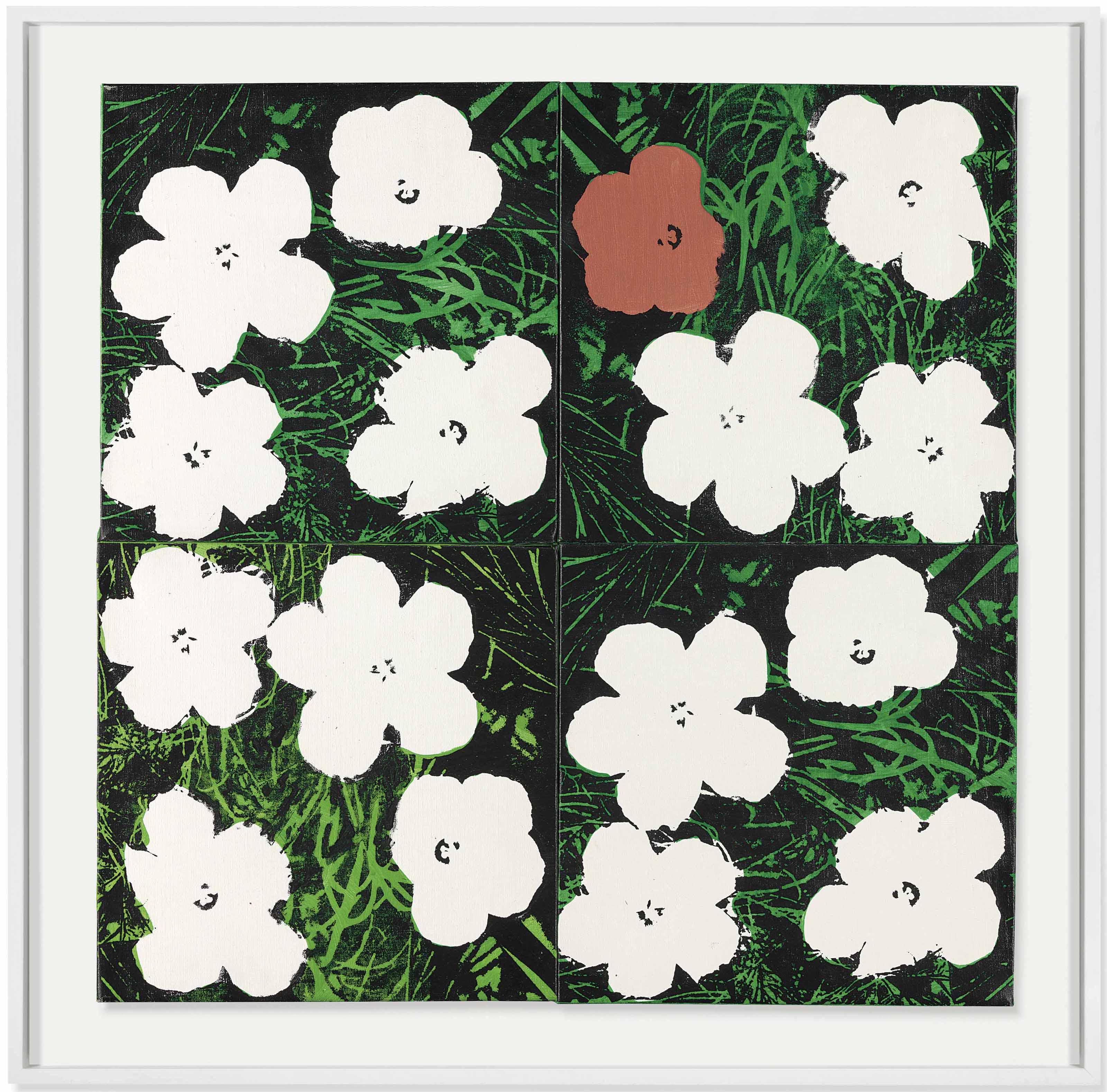 Four Warhol Flowers