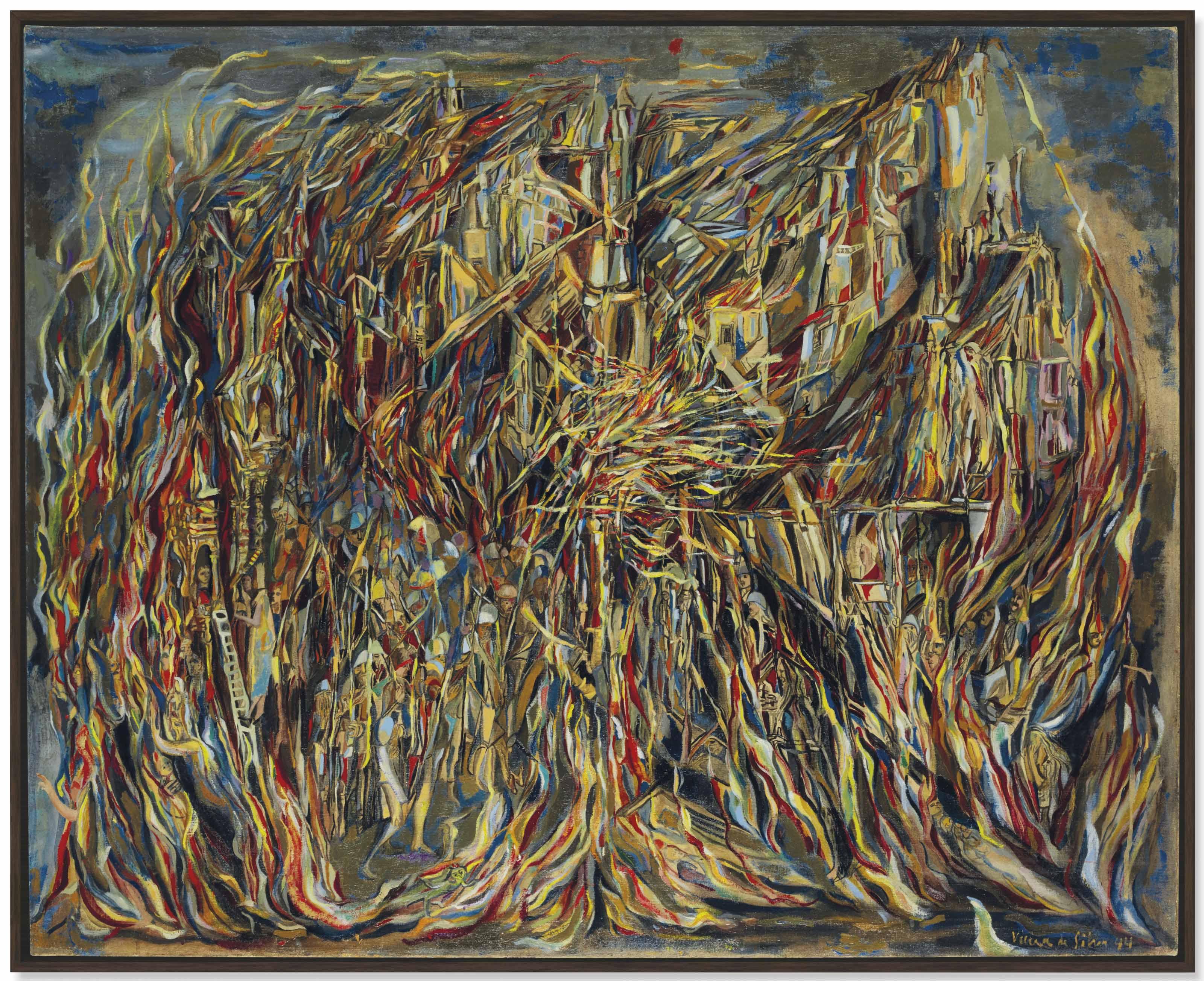 Maria Helena Vieira da Silva (1908-1992) | L'Incendie I (The Fire ...