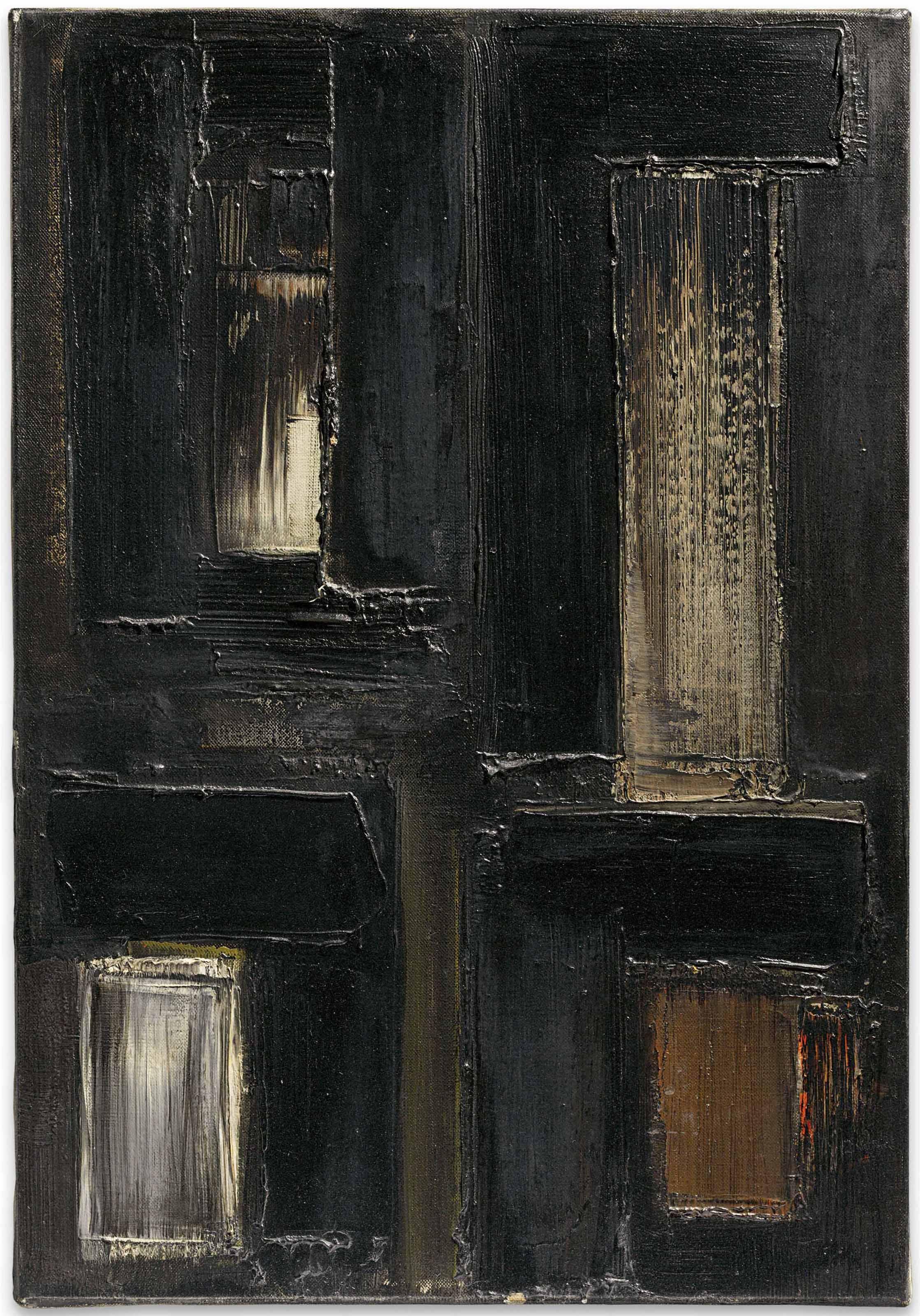 Pierre Soulages (b. 1919) , Peinture 55 x 38 cm, 7 octobre 1955 | Christie's