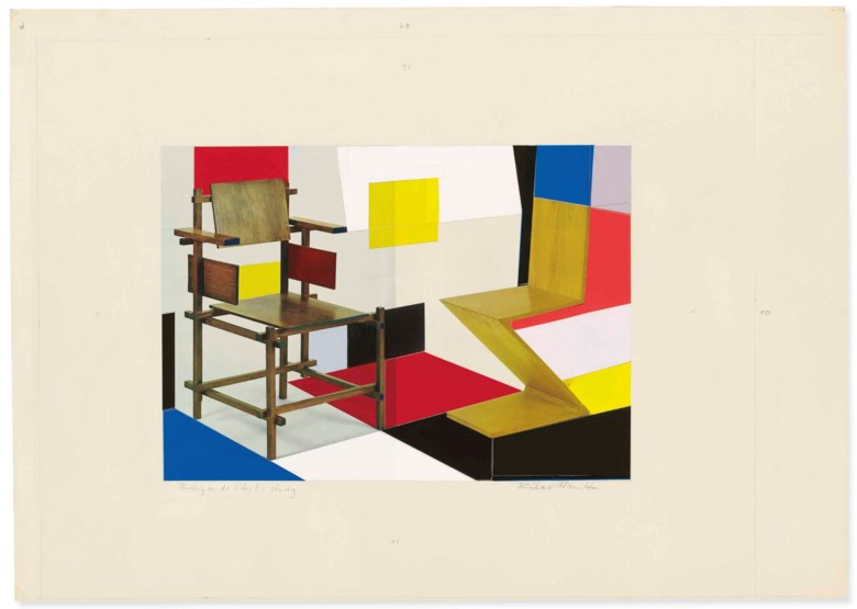 Richard Hamilton (1922-2011), Putting on de Stijl, executed circa 1979. 19¾ x 25¼  in (50.2 x 64.1  cm). Estimate £150,000-250,000. This lot is offered in Modern British Art Evening Sale on 19 June 2018 at Christie's in London