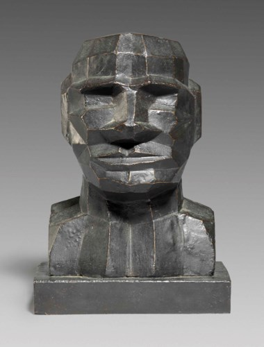 Sir Eduardo Paolozzi, R.A. (1924-2005), Computer Head, 1994. 9⅞  in (25  cm) high. Estimate £8,000-12,000. This lot is offered in Modern British Art Day Sale on 20 June 2018 at Christie's in London