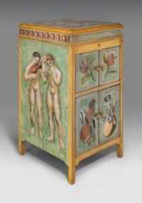 Gramophone cabinet painted for Maynard Keynes
