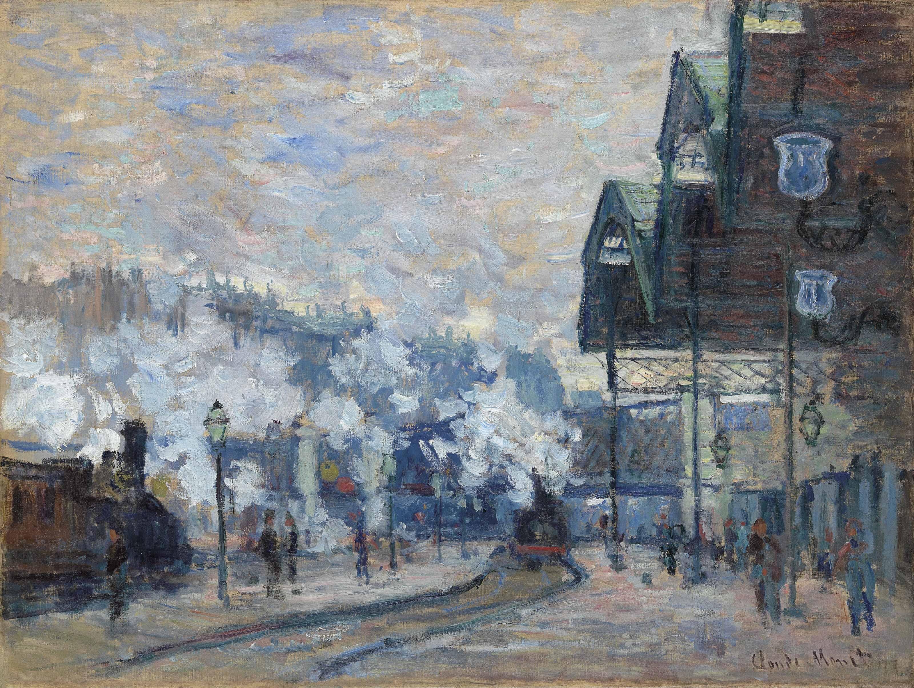 La Gare Saint-Lazare, vue extérieure