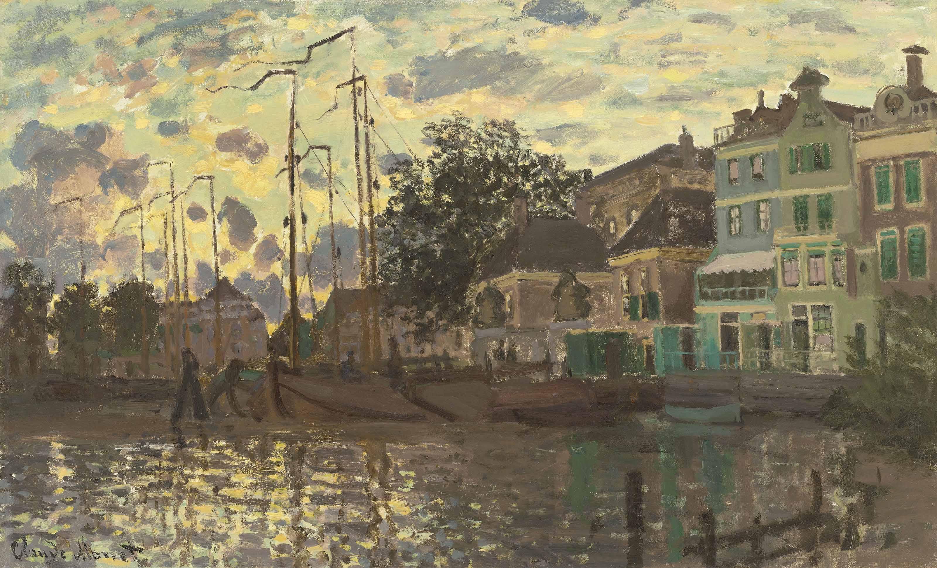 Claude Monet (1840-1926) | Le Dam à Zaandam, le soir | 19th Century, late  19th Century | Christie's