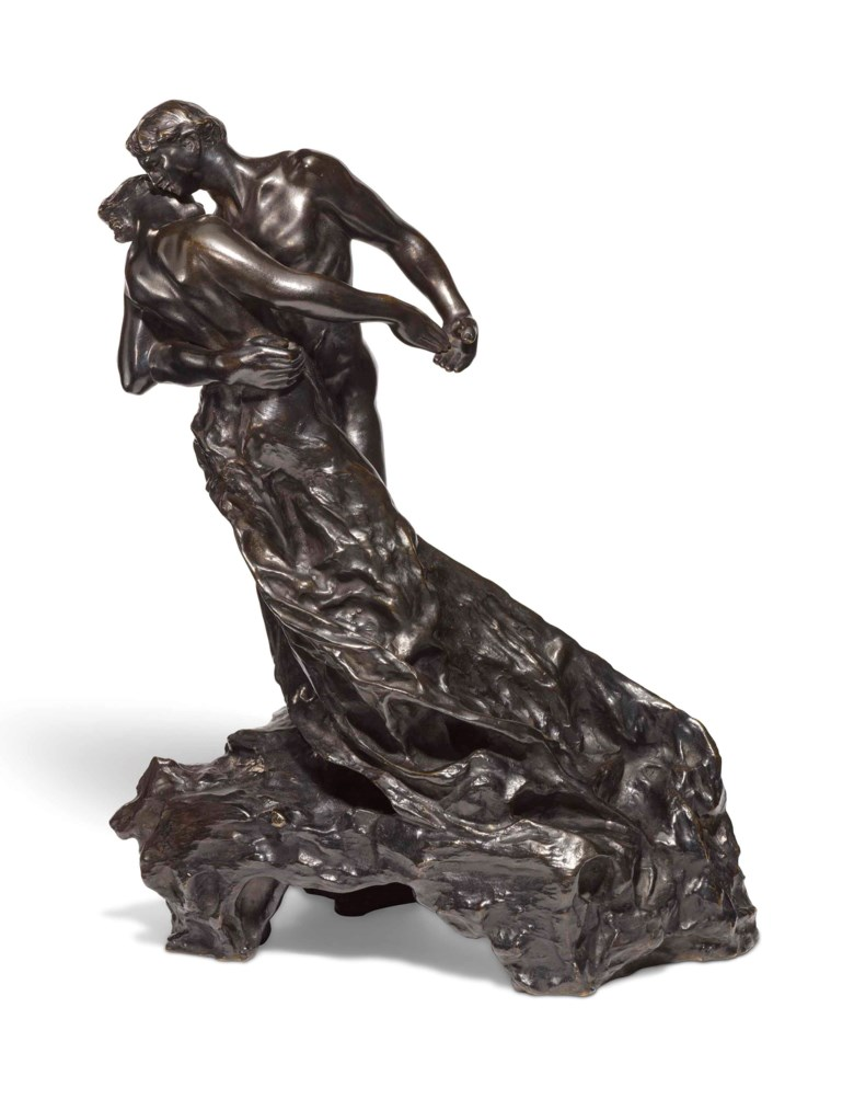 Camille Claudel (1864-1943), La valse or Les valseurs, conceived circa 1895, this bronze version cast by Eugène Blot in 1905, is number 12 of 25 recorded casts. Bronze with dark brown patina. Height 18⅜ in (46.5 cm). Sold for £1,112,750 on 20 June 2018 at Christie's in London