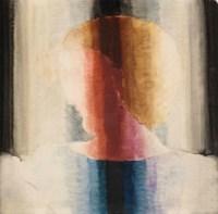 Brustbild nach links in Hell-Dunkel-Streifen