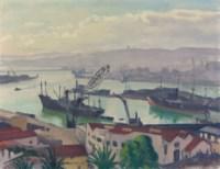 Le port, soleil voilé