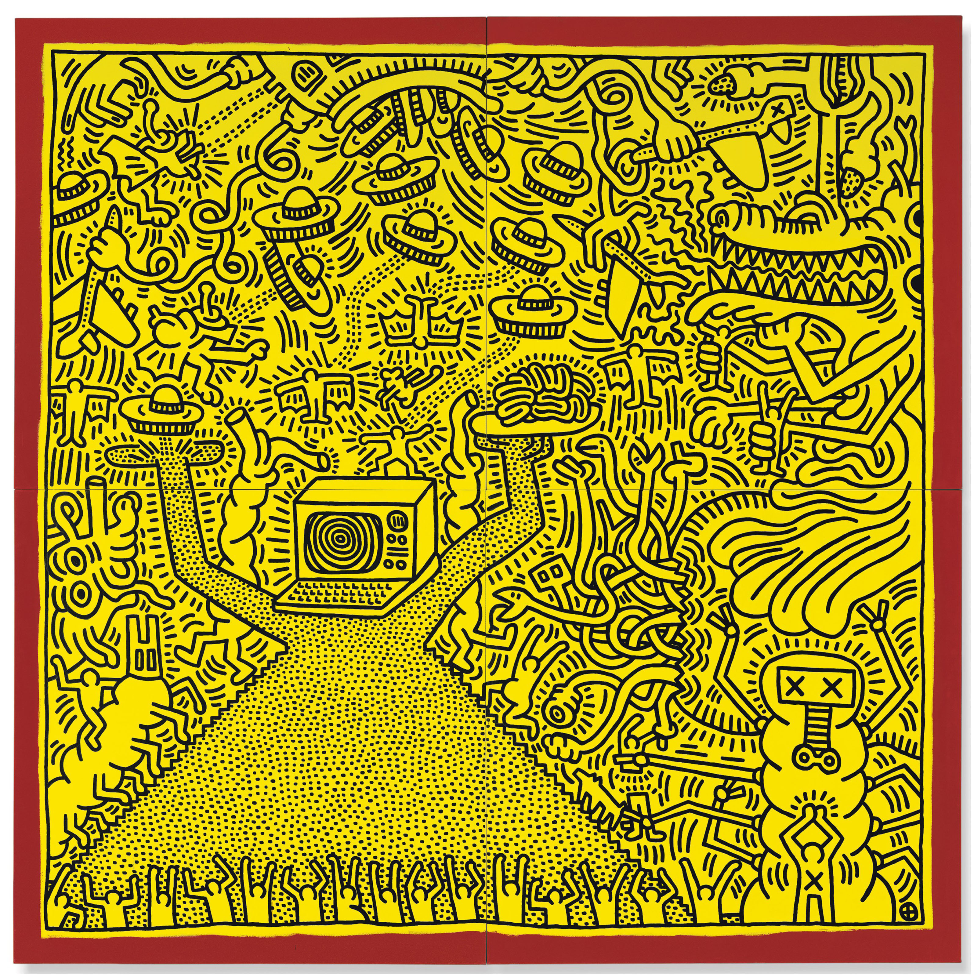 Keith Haring (1958-1990) | Untitled | Paintings, Contemporary ...