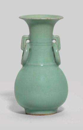 A Longquan Celadon Glazed Pear Shaped Vase Ming Dynasty 1368 1644