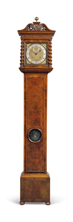 A CHARLES II WALNUT MONTH-GOING STRIKING-LONGCASE CLOCK