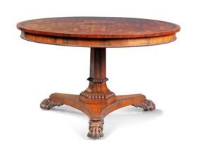 A REGENCY BRASS-INLAID ROSEWOOD CENTRE TABLE