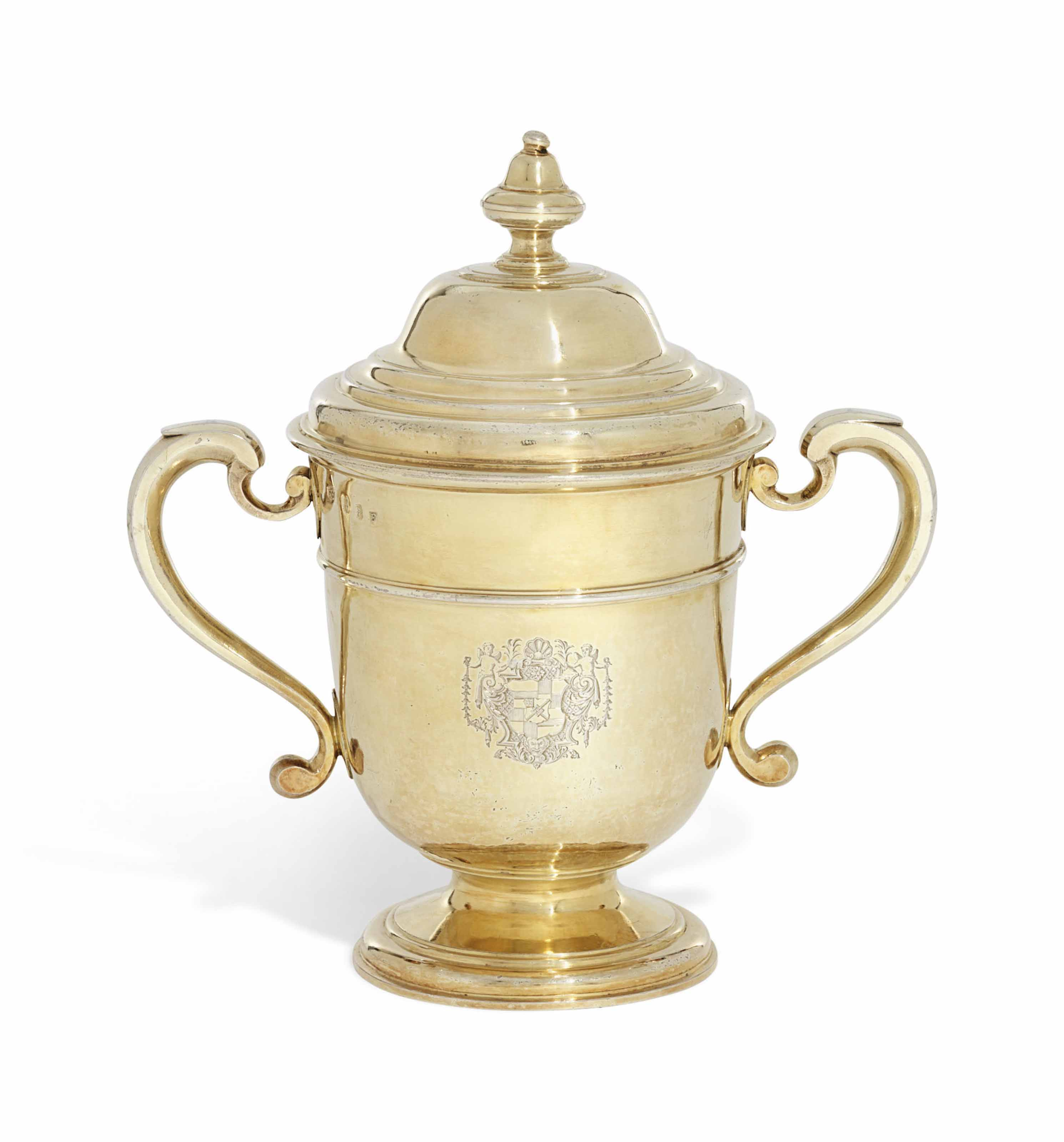 A GEORGE I SILVER-GILT CUP AND COVER