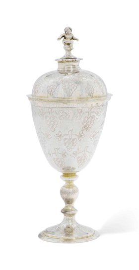 A JAMES I SILVER WINE-CUP AND COVER