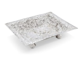 A CHARLES II SILVER LAYETTE BASKET
