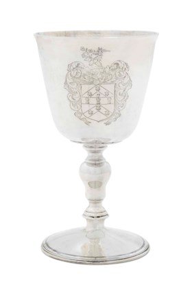 A CHARLES I SILVER WINE-CUP
