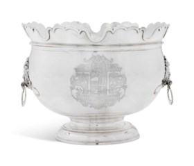A GEORGE II SILVER MONTEITH