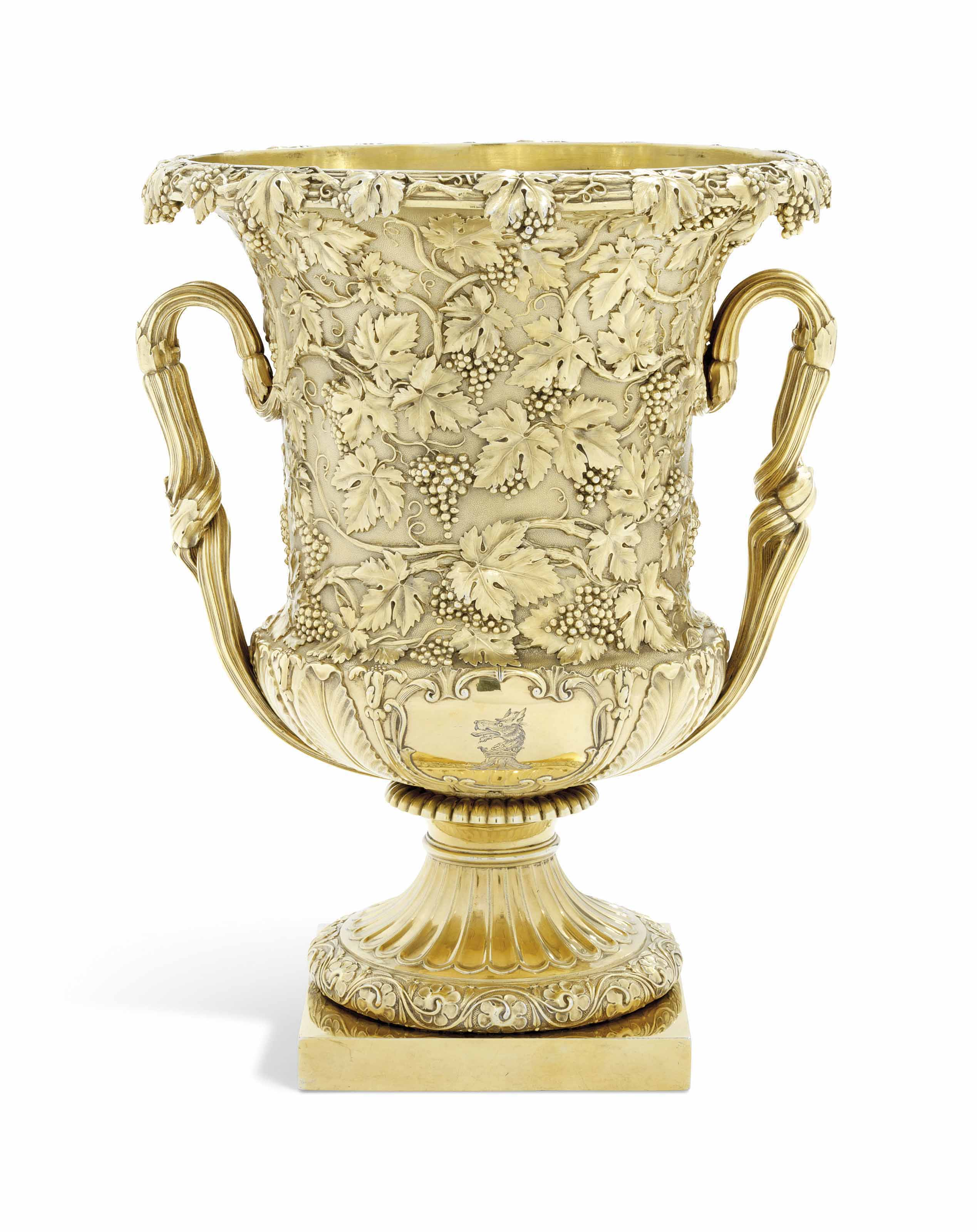 A GEORGE IV SILVER-GILT WINE-C