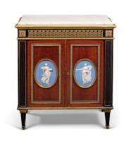 A FRENCH ORMOLU AND WEDGWOOD-M