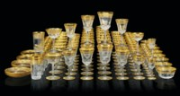 A ST. LOUIS 'THISTLE' PATTERN ETCHED AND GILT-GLASS PART TABLE-SERVICE