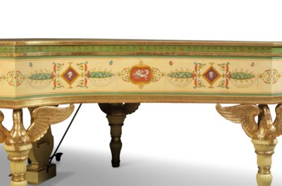 A FRENCH POLYCHROME PAINTED AN