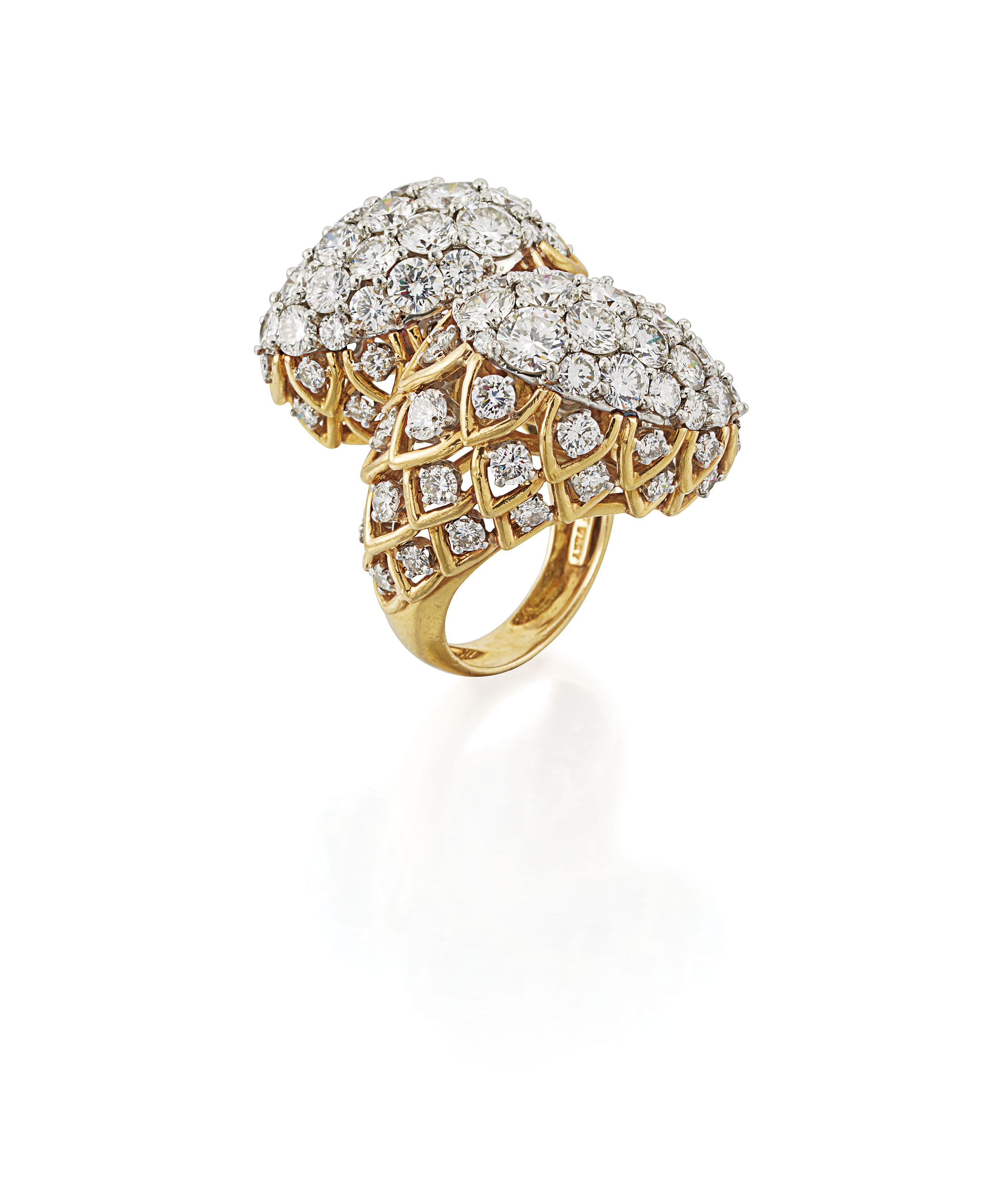 DIAMOND COCKTAIL RING, DAVID W