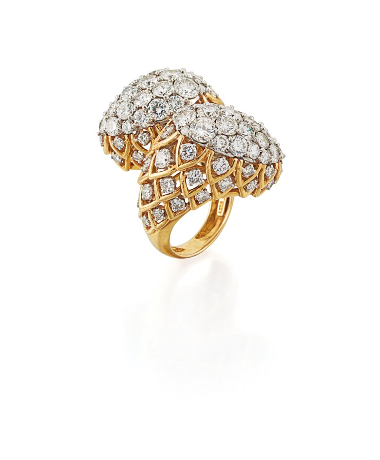 Diamond Cocktail Ring, David Webb. Estimate £18,000-20,000. Offered in Important Jewels on 13 June 2018 at Christie's in London