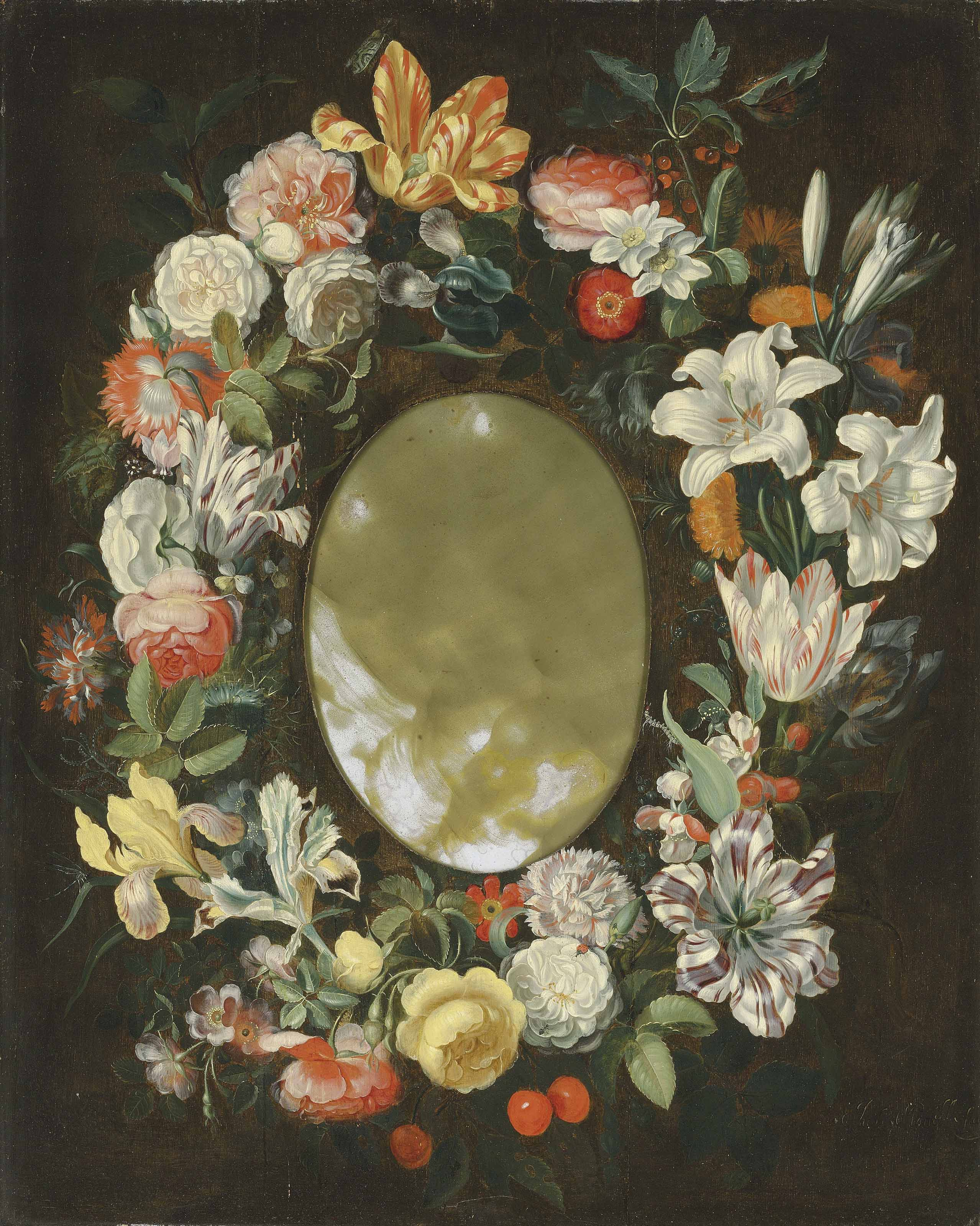 A wreath of flowers