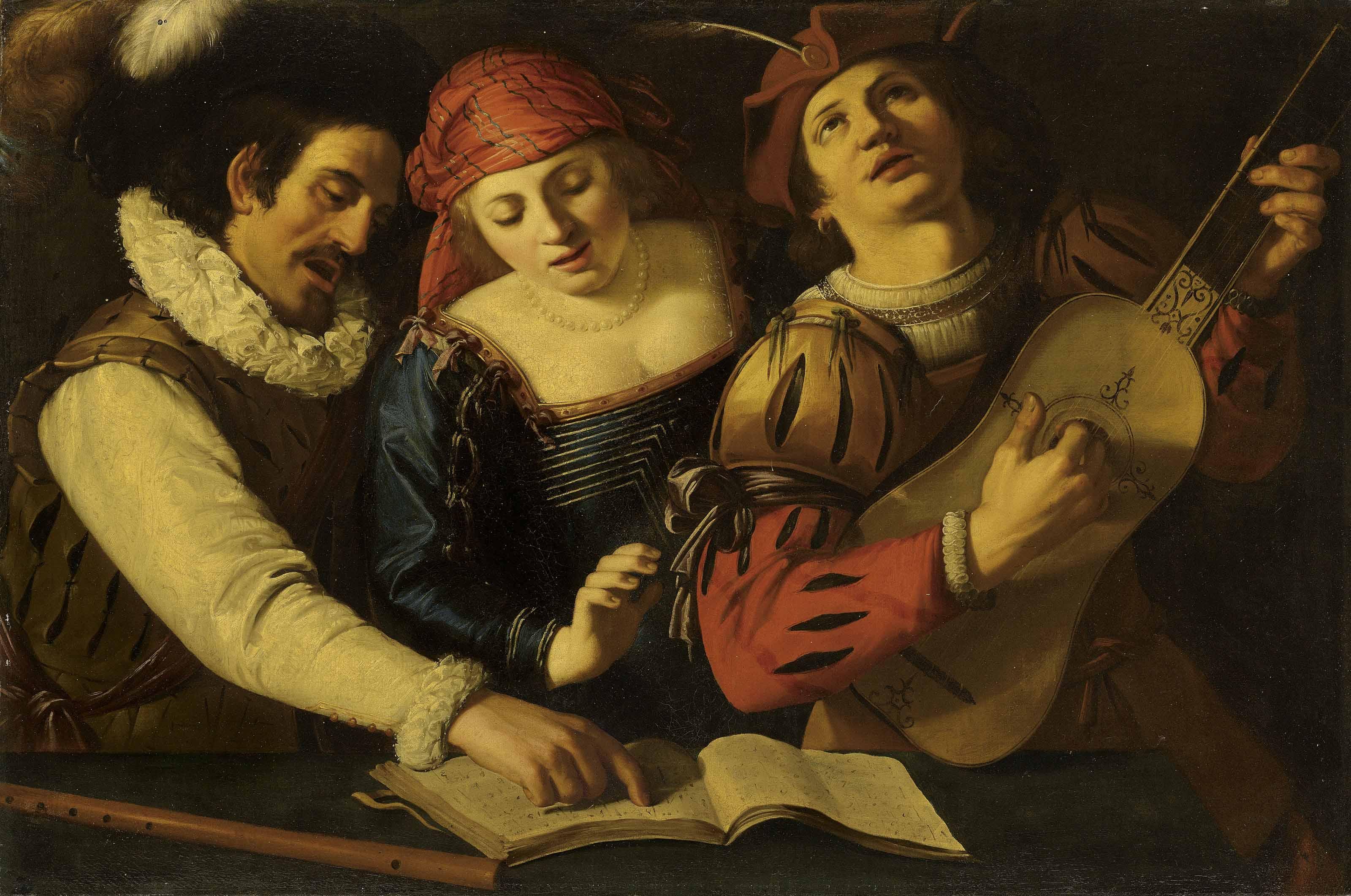 Northern follower of Michelangelo Merisi da Caravaggio, 17th century