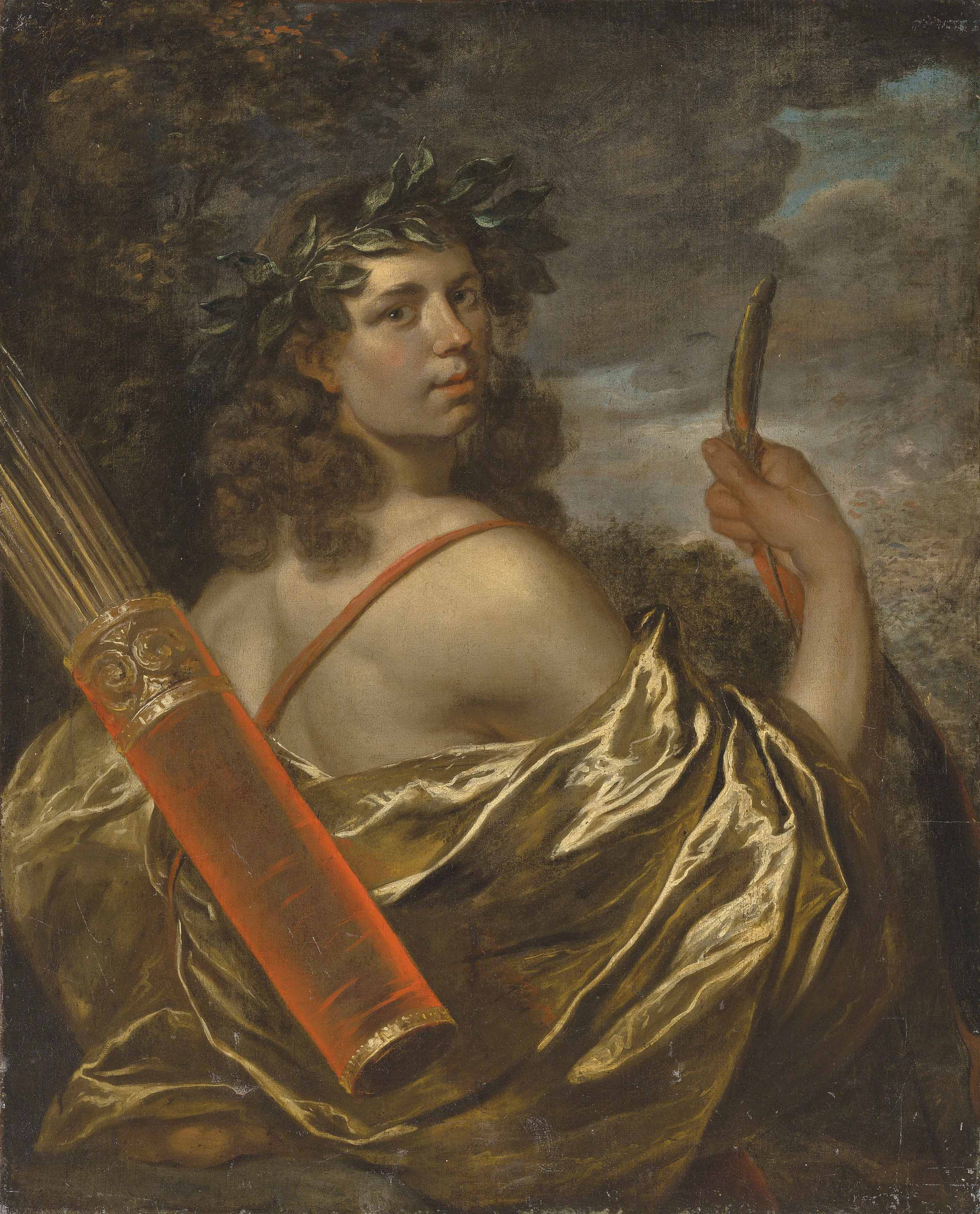 Portrait of a gentleman in the guise of Apollo, half-length